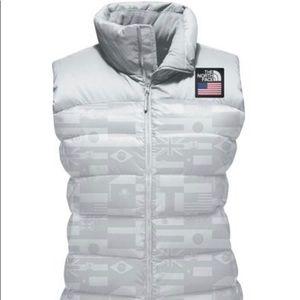 {The North Face} Glacier Grey Nuptse Vest
